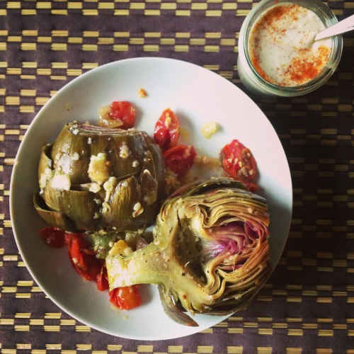 Steam Roasted Artichokes|Spoonwithme.com