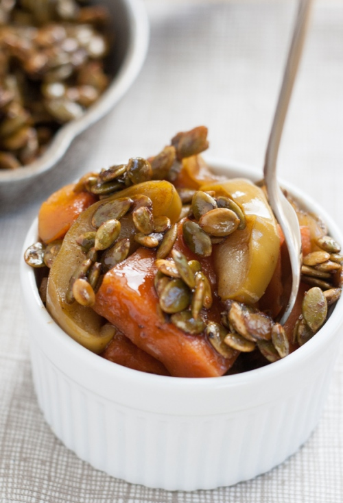 Spiced Maple-Glazed Sweet Potatoes, Apples and Butternuts with ...