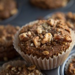 Buckwheat Pumpkin Muffins with Cinnamon-Walnut Topping (gf, v)